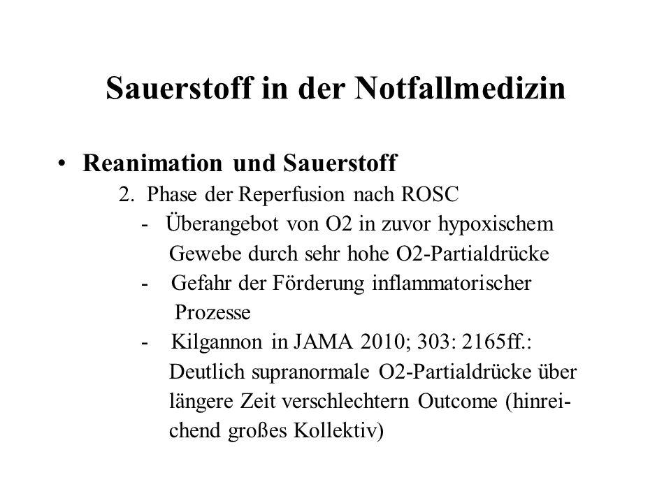 Sauerstoff in der Notfallmedizin Reanimation und Sauerstoff 2.