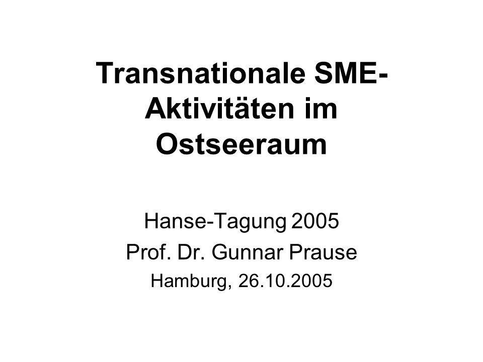 Transnationale SME- Aktivitäten im Ostseeraum Hanse-Tagung 2005 Prof.