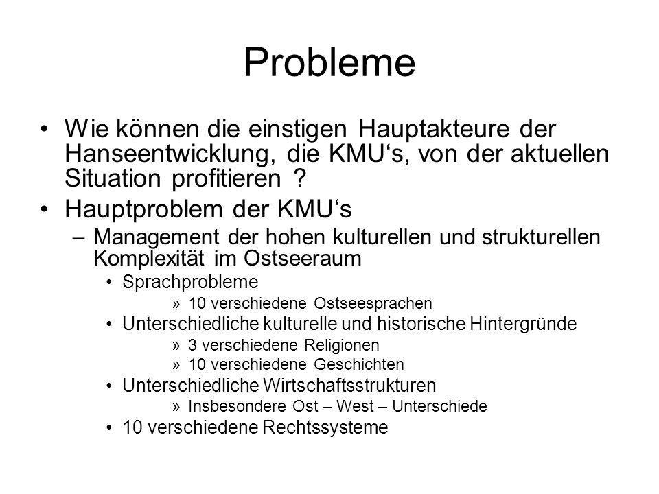 Probleme Wie können die einstigen Hauptakteure der Hanseentwicklung, die KMUs, von der aktuellen Situation profitieren .