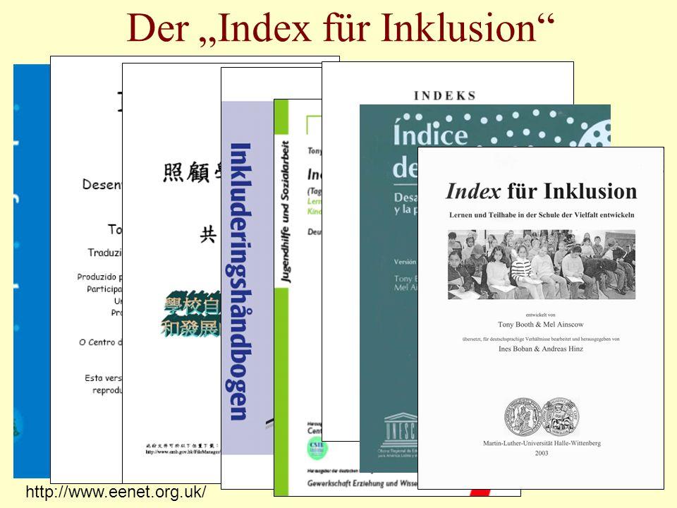 http://www.eenet.org.uk/ Der Index für Inklusion