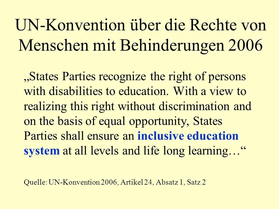 Schlüsselkonzepte des Index für Inklusion Barrieren für Lernen und Teilhabe statt sonderpädagogischem Förderbedarf – diskriminierend wie sexistische und rassistische Sprache Demokratisierung durch Partizipation Unterstützung von Vielfalt institutionelle Diskriminierung