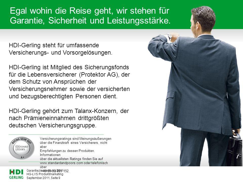 HG-LVS Produktmarketing Garantiezinssenkung 2011 September 2011, Seite 20 Gründe das Berufslebens vorzeitig zu beenden.