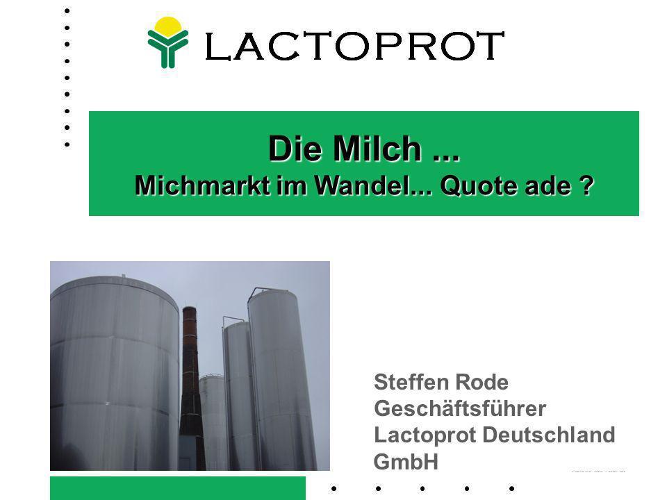 LandboSYD LACTOPROT DEUTSCHLAND GMBH Mitarbeiter: Umsatz: Standorte: 80, davon 12 Auszubildene 95 Mio.