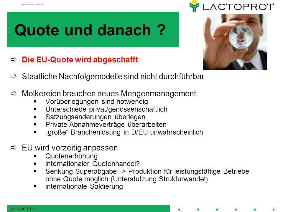 LandboSYD Quote und danach .