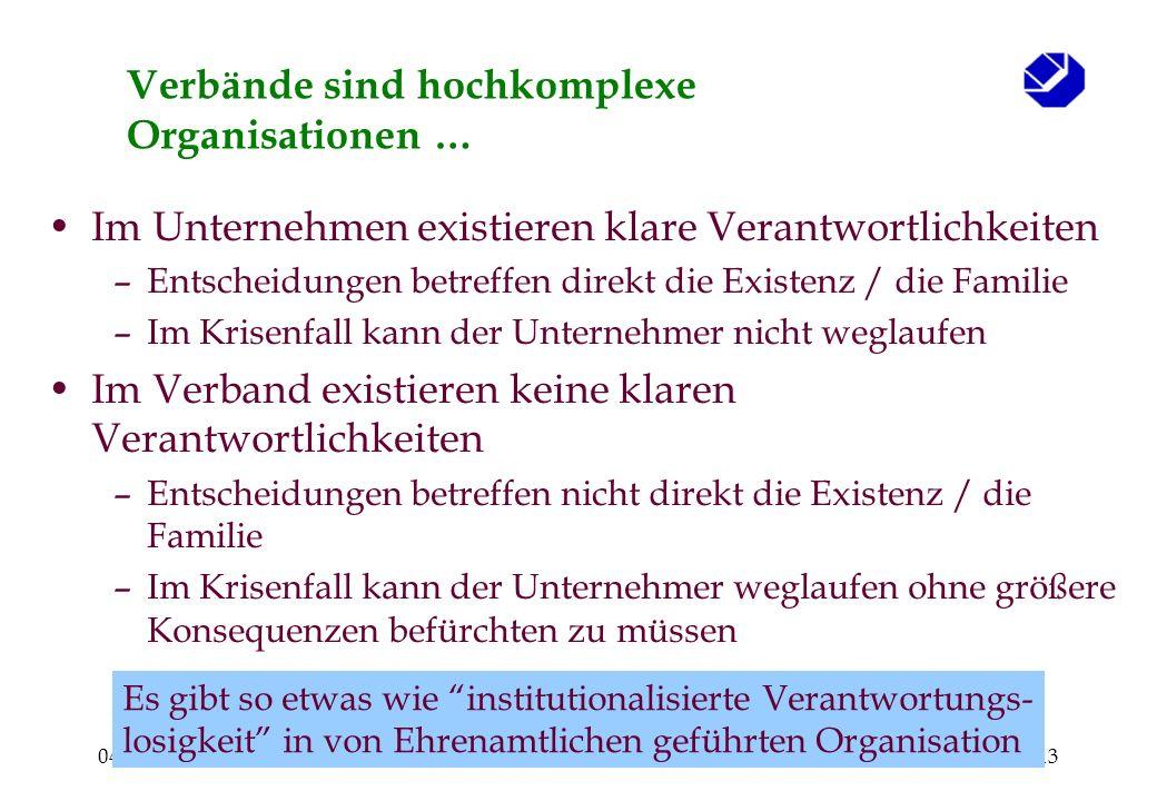 04/2008Nucleus-International.net13 Verbände sind hochkomplexe Organisationen … Im Unternehmen existieren klare Verantwortlichkeiten –Entscheidungen be