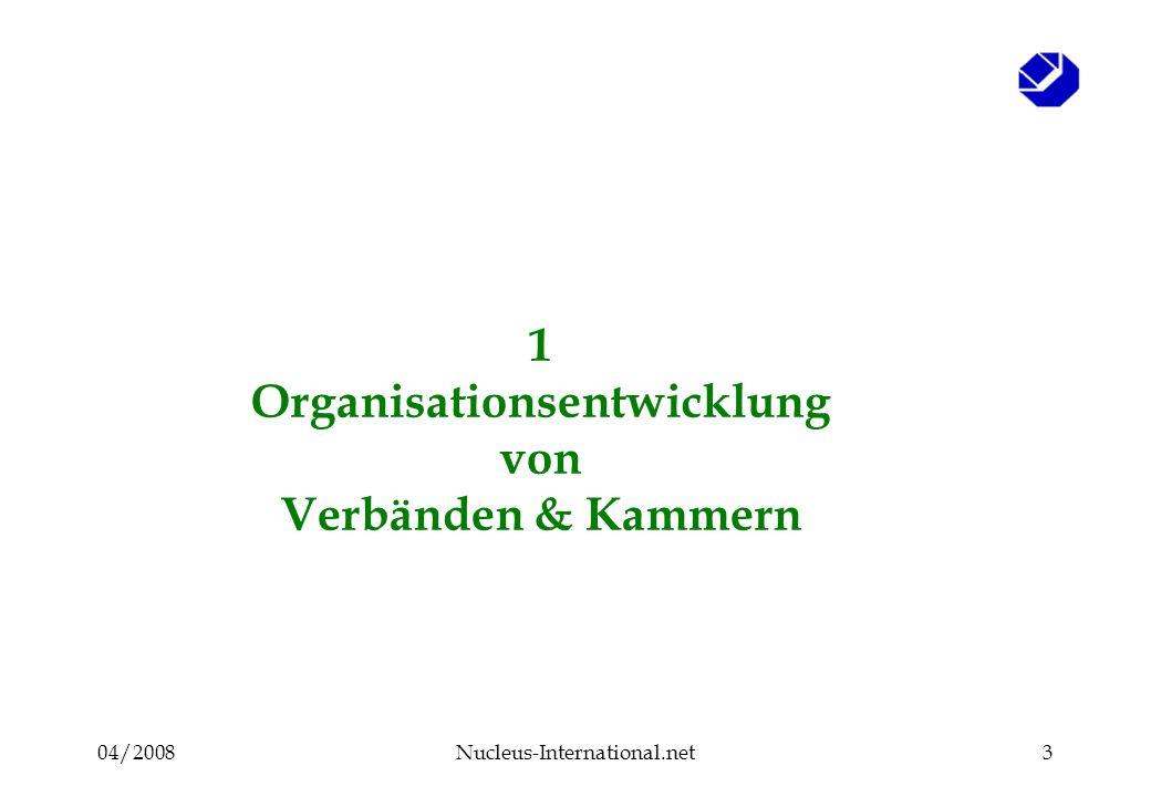 04/2008Nucleus-International.net3 1 Organisationsentwicklung von Verbänden & Kammern