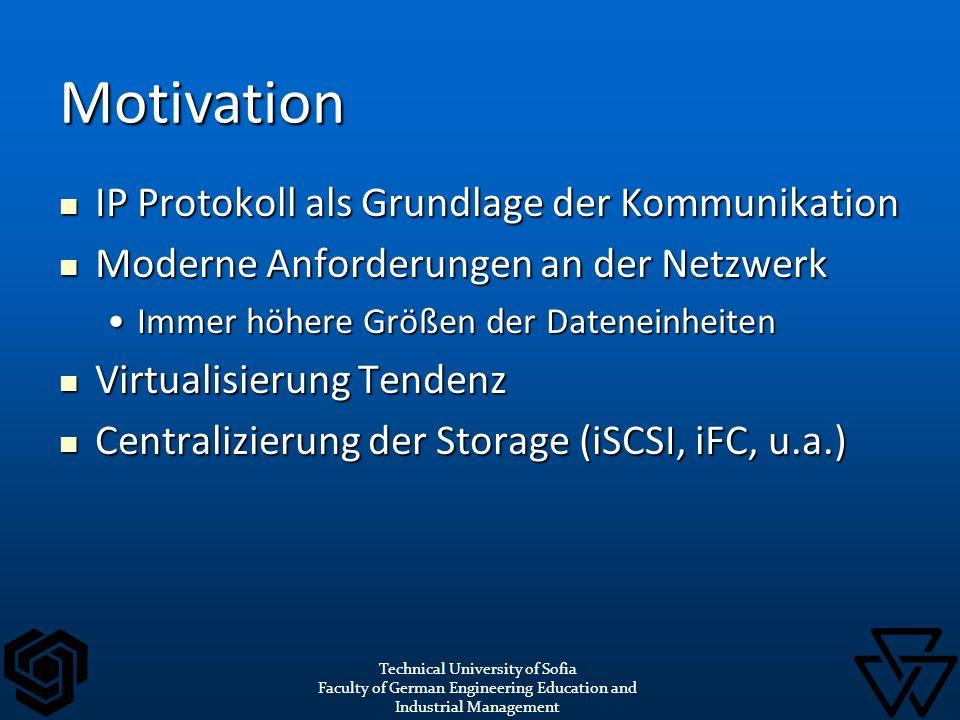 IP Protokoll als Grundlage der Kommunikation IP Protokoll als Grundlage der Kommunikation Moderne Anforderungen an der Netzwerk Moderne Anforderungen