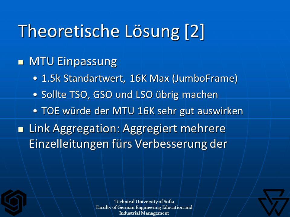 MTU Einpassung MTU Einpassung 1.5k Standartwert, 16K Max (JumboFrame)1.5k Standartwert, 16K Max (JumboFrame) Sollte TSO, GSO und LSO übrig machenSollt