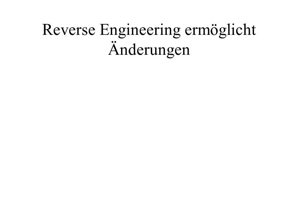Reverse Engineering ermöglicht Änderungen
