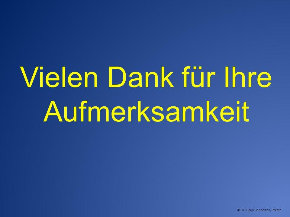Vielen Dank für Ihre Aufmerksamkeit © Dr. Heidi Schooltink, Preetz