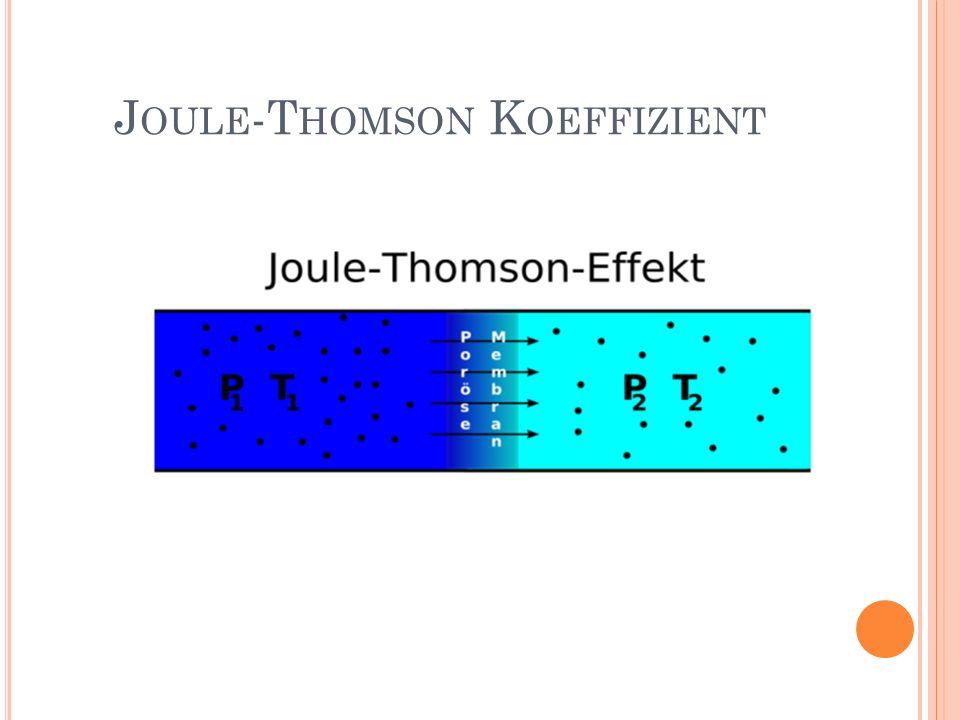 J OULE -T HOMSON K OEFFIZIENT