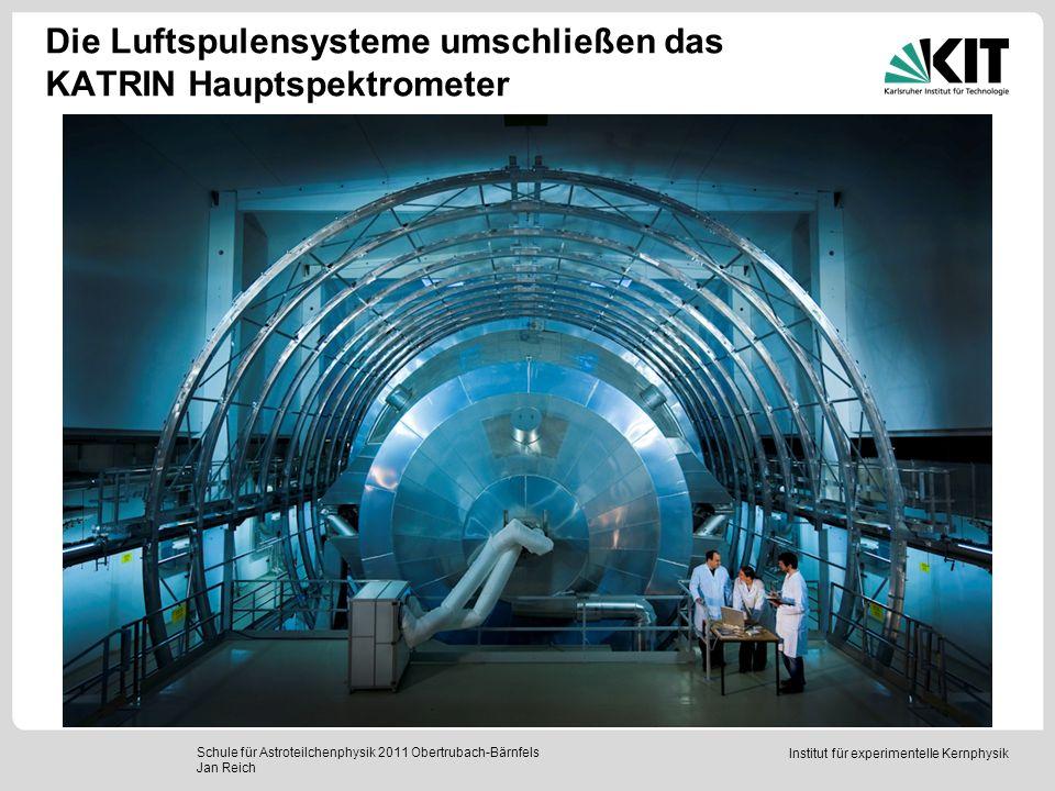 Institut für experimentelle Kernphysik Die Luftspulensysteme umschließen das KATRIN Hauptspektrometer Schule für Astroteilchenphysik 2011 Obertrubach-