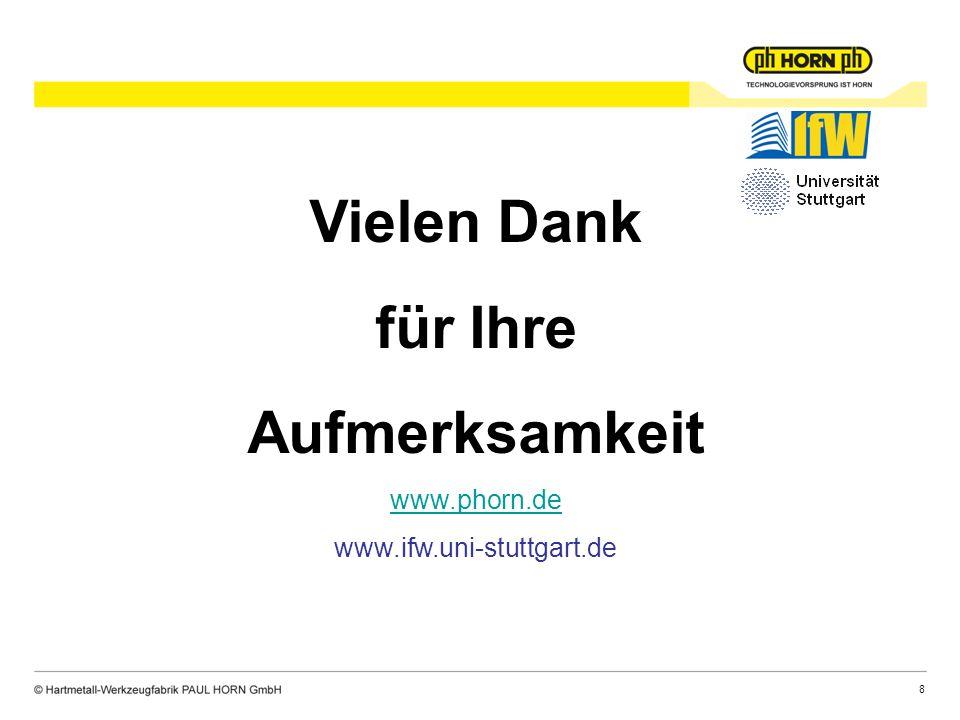 8 Vielen Dank für Ihre Aufmerksamkeit www.phorn.de www.ifw.uni-stuttgart.de