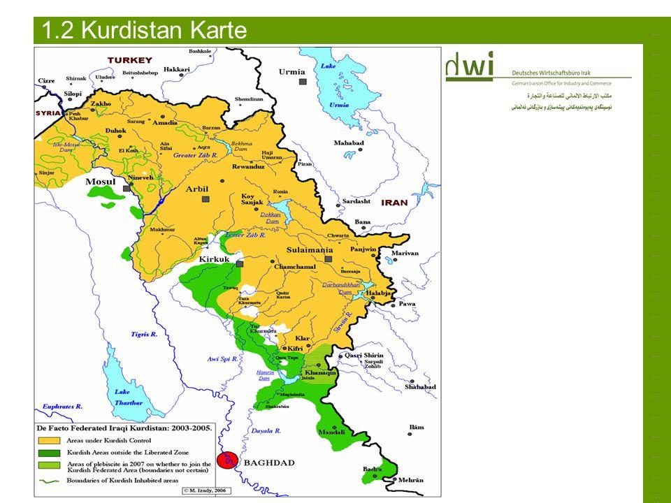 ……………………………………………………………………………………………………………………………… 1.2 Kurdistan Karte