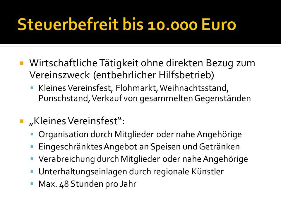 Wirtschaftliche Tätigkeiten in Konkurrenz zu normal steuerpflichtigen Unternehmen: Z.B.