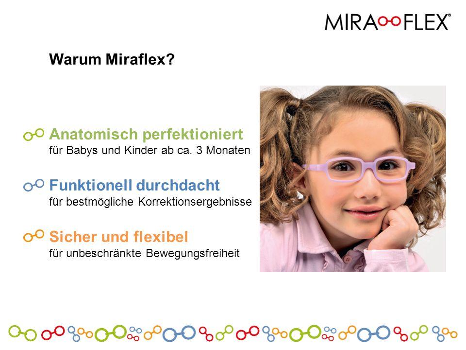 Warum Miraflex? Anatomisch perfektioniert für Babys und Kinder ab ca. 3 Monaten Funktionell durchdacht für bestmögliche Korrektionsergebnisse Sicher u