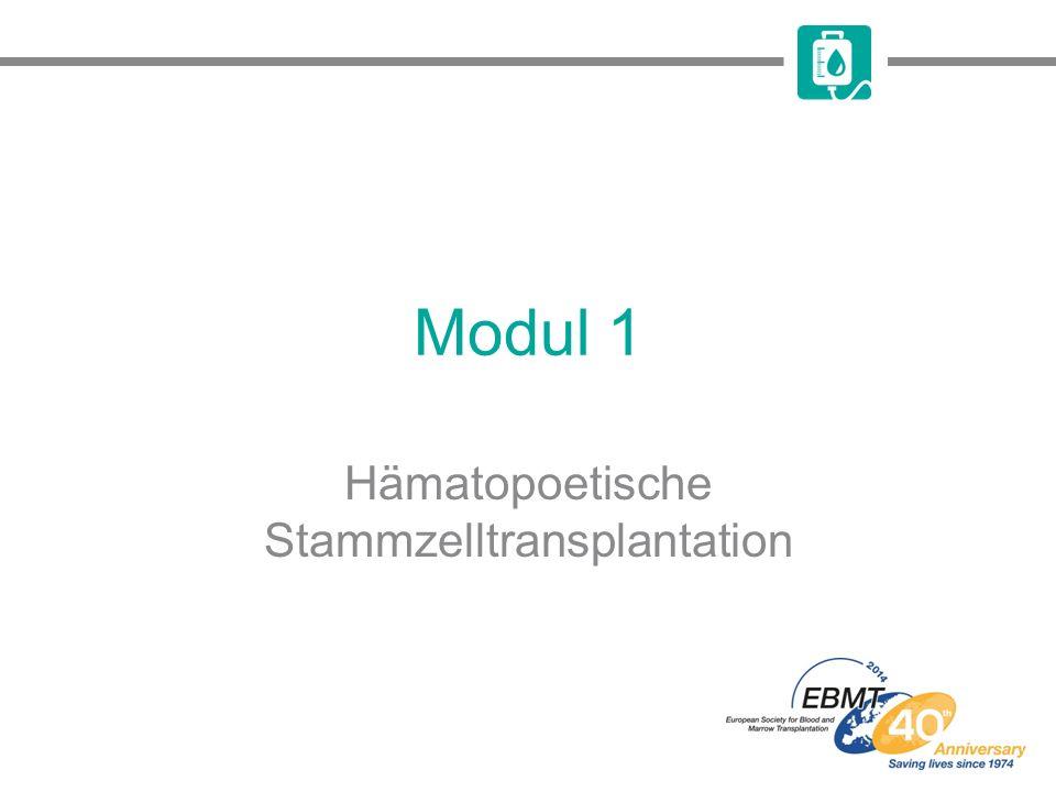 Lernziele Die Unterschiede zwischen allogener und autologer HSZT Die Arten und Gründe für die verschiedenen HSZT- Konditionierungsregime Mit der HSZT verbundene potenzielle Komplikationen erkennen zu können Die verbreitetsten Aspekte der Supportivtherapie zu kennen und diese in der Praxis anwenden zu können HSZT, hämatopoetische Stammzelltransplantation