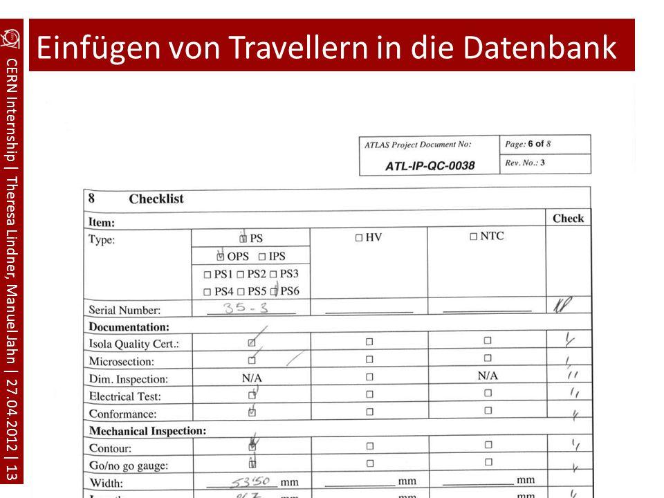 CERN Internship | Theresa Lindner, Manuel Jahn | 27.04.2012 | 13 »Die Digitalisierung von Travellern – Ein Traveller pro Bauteil auf mehreren Ebenen –