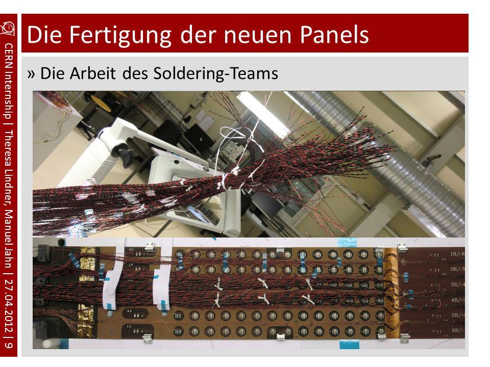 CERN Internship | Theresa Lindner, Manuel Jahn | 27.04.2012 | 9 Die Fertigung der neuen Panels »Die Arbeit des Soldering-Teams