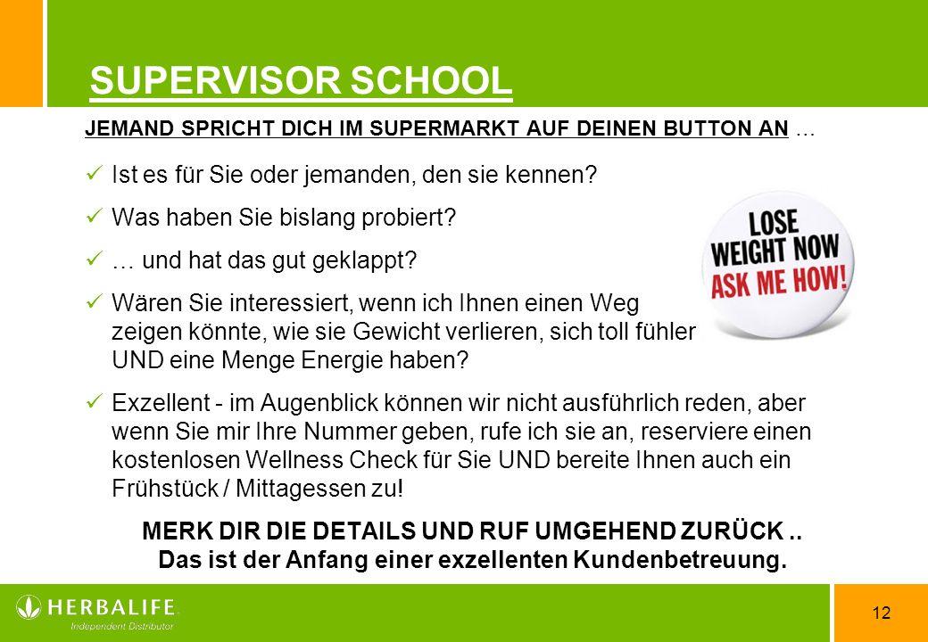 12 SUPERVISOR SCHOOL JEMAND SPRICHT DICH IM SUPERMARKT AUF DEINEN BUTTON AN … Ist es für Sie oder jemanden, den sie kennen? Was haben Sie bislang prob