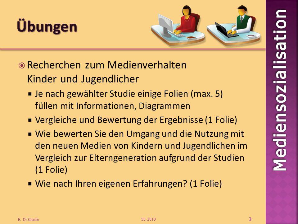 Recherchen zum Medienverhalten Kinder und Jugendlicher Je nach gewählter Studie einige Folien (max. 5) füllen mit Informationen, Diagrammen Vergleiche