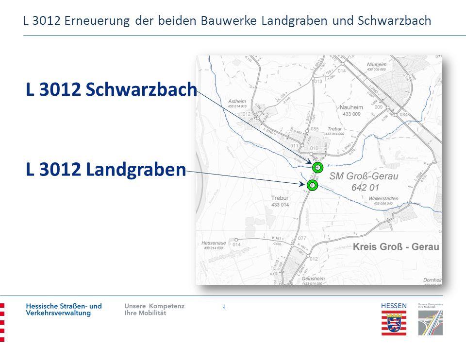 25 KONTAKT Amt für Straßen- und Verkehrswesen Darmstadt Groß-Gerauer Weg 4 64295 Darmstadt post.asv-darmstadt@hsvv.hessen.de OrganisationseinheitVor- / NachnameTelefonFax AmtsleiterMarkus Schmitt06151 3306 – 300006151 3306 – 3150 Projektverantwortliche Planung Sonja Ebling06151 3306 - 322606151 3306 – 3350 Projektverantwortlicher Bau Artur Michalek06151 3306 - 330006151 3306 – 3350 L 3012 Erneuerung der beiden Bauwerke Landgraben und Schwarzbach