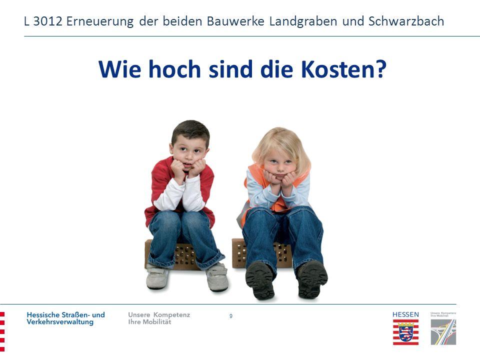 10 Wie hoch sind die Kosten.Bauwerk Schwarzbach:629 Tsd.