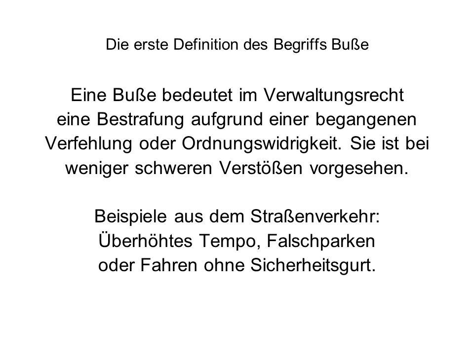 Die zweite Definition des Begriffs Buße Matthäusevangelium, 3.