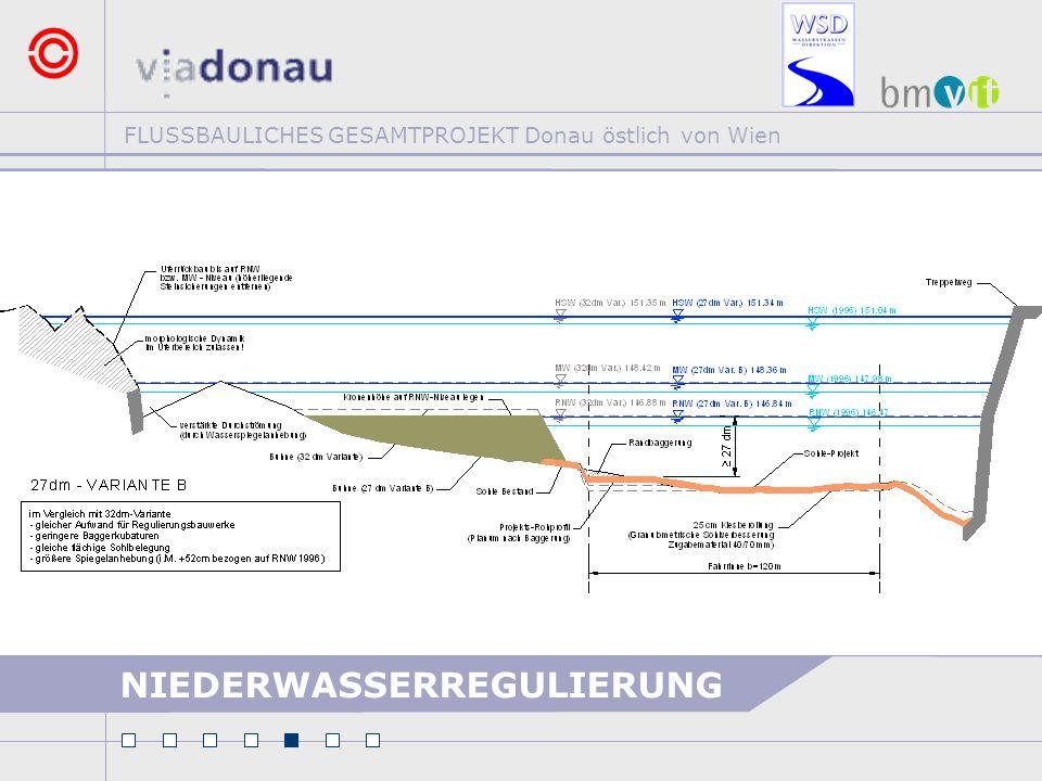 FLUSSBAULICHES GESAMTPROJEKT Donau östlich von Wien NIEDERWASSERREGULIERUNG