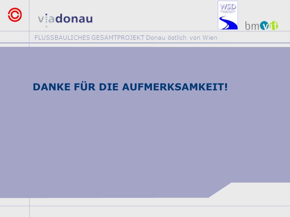 FLUSSBAULICHES GESAMTPROJEKT Donau östlich von Wien DANKE FÜR DIE AUFMERKSAMKEIT!