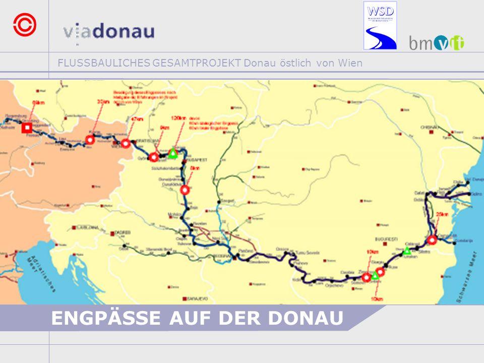 FLUSSBAULICHES GESAMTPROJEKT Donau östlich von Wien ENGPÄSSE AUF DER DONAU