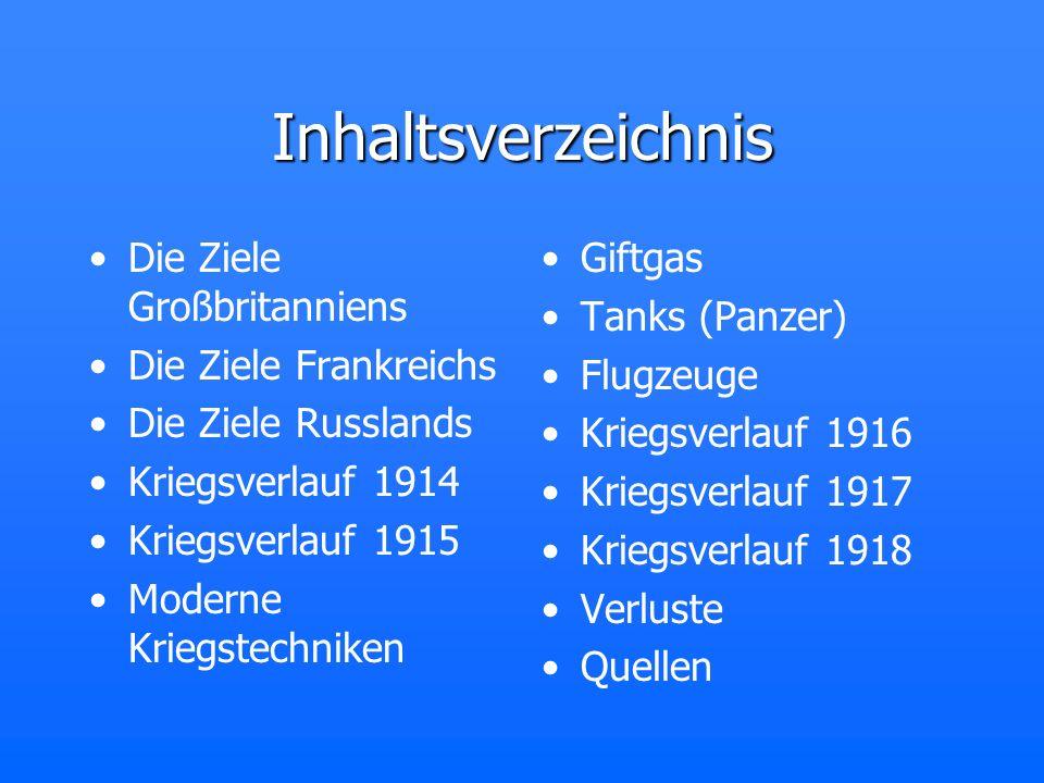 Die Ziele Großbritanniens Ausschaltung der deutschen Flotte Demokratisierung Europas Erwerb deutscher Kolonien Wiederherstellung eines Mächtegleichgewichtes