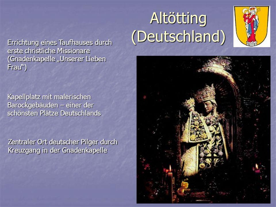 Altötting (Deutschland) Errichtung eines Taufhauses durch erste christliche Missionare (Gnadenkapelle Unserer Lieben Frau) Kapellplatz mit malerischen
