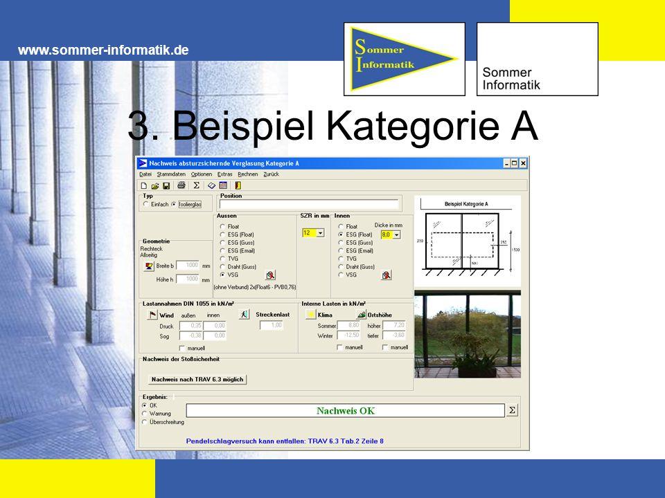 www.sommer-informatik.de 3. Beispiel Kategorie A