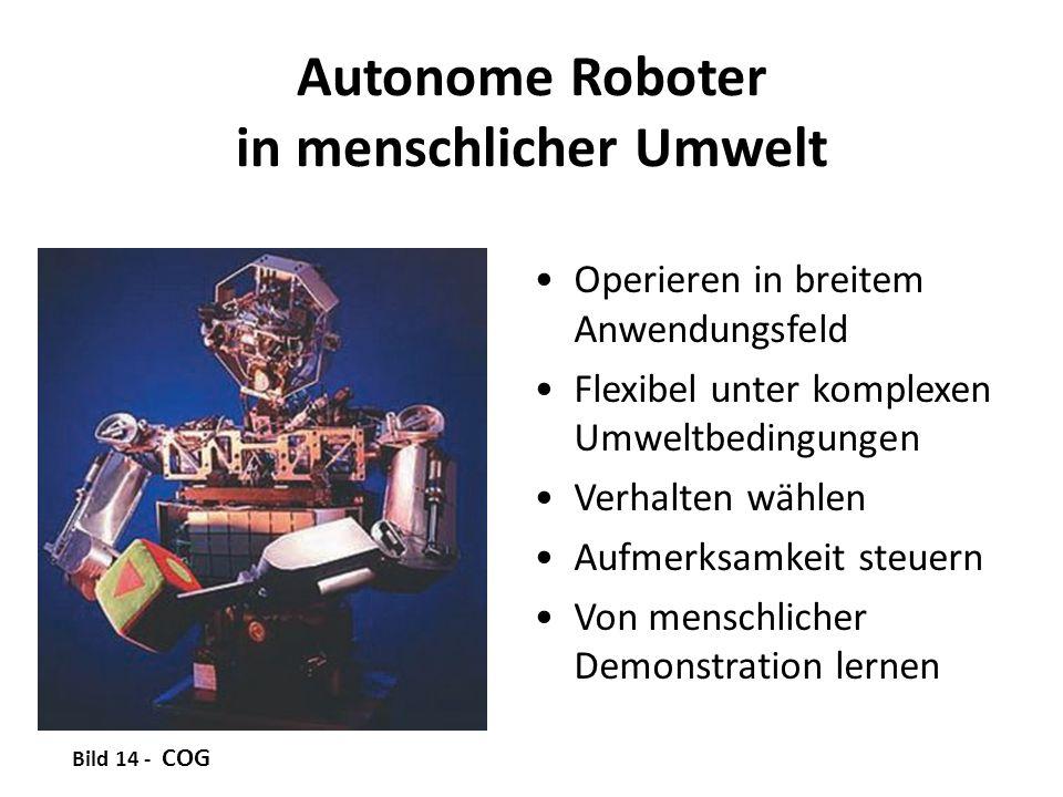Autonome Roboter in menschlicher Umwelt Operieren in breitem Anwendungsfeld Flexibel unter komplexen Umweltbedingungen Verhalten wählen Aufmerksamkeit