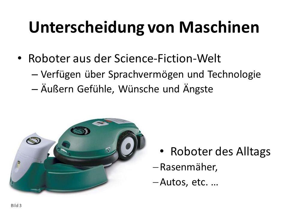 Unterscheidung von Maschinen Roboter aus der Science-Fiction-Welt – Verfügen über Sprachvermögen und Technologie – Äußern Gefühle, Wünsche und Ängste