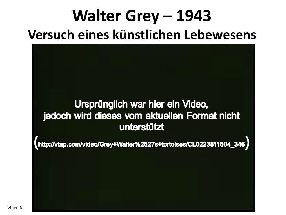 Walter Grey – 1943 Versuch eines künstlichen Lebewesens Video 6