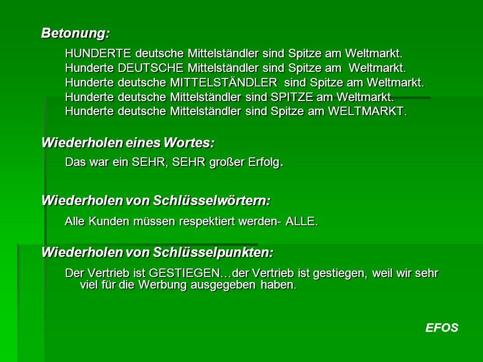 EFOS Betonung: HUNDERTE deutsche Mittelständler sind Spitze am Weltmarkt.