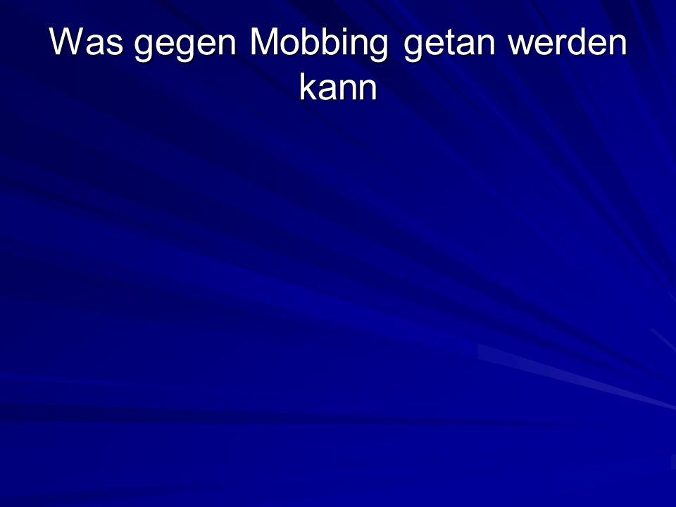 Was gegen Mobbing getan werden kann