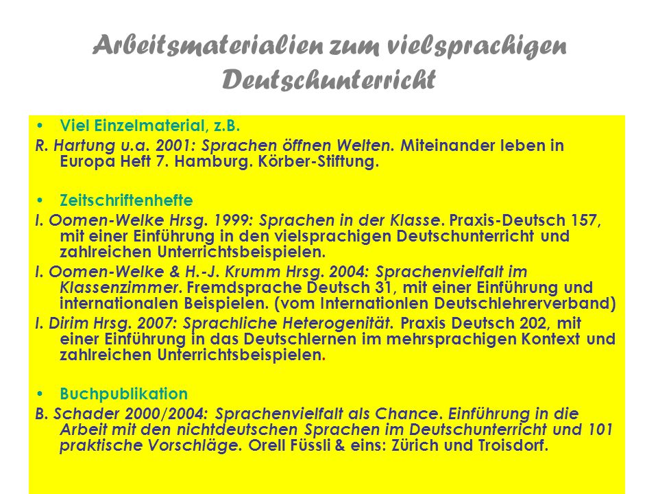 Ingelore Oomen-Welke PH Freiburg 10 Sprachen herbeiholen Tetszik önnek Graz.