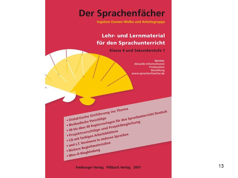 Ingelore Oomen-Welke PH Freiburg 12 Materialien für die kontinuierliche Arbeit im mehrsprachigen Klassenzimmer: KIESEL, ab 2003. Hefte zu Sprachthemen