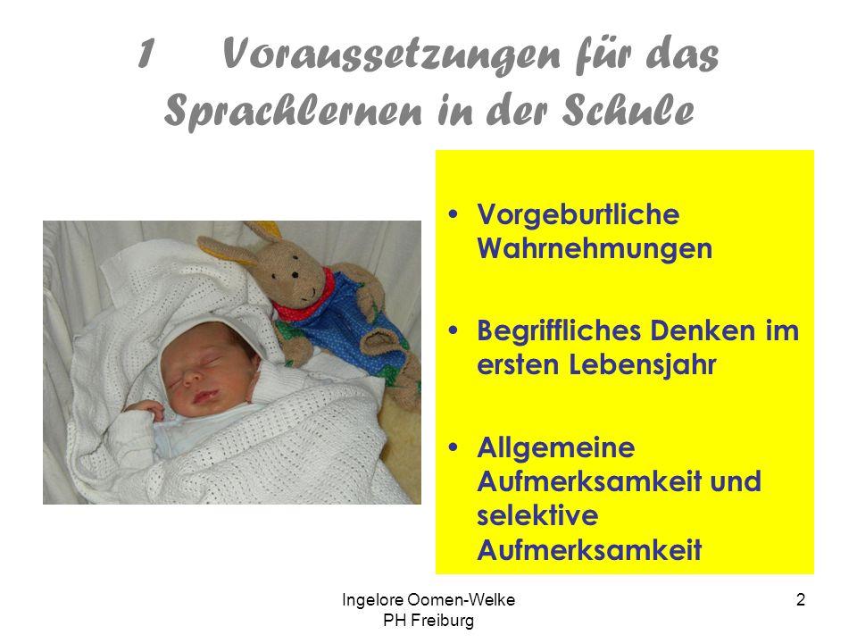 Ingelore Oomen-Welke PH Freiburg 1 Konstruktiver Umgang mit Mehrsprachigkeit – mein Konzept für den Deutschunterricht