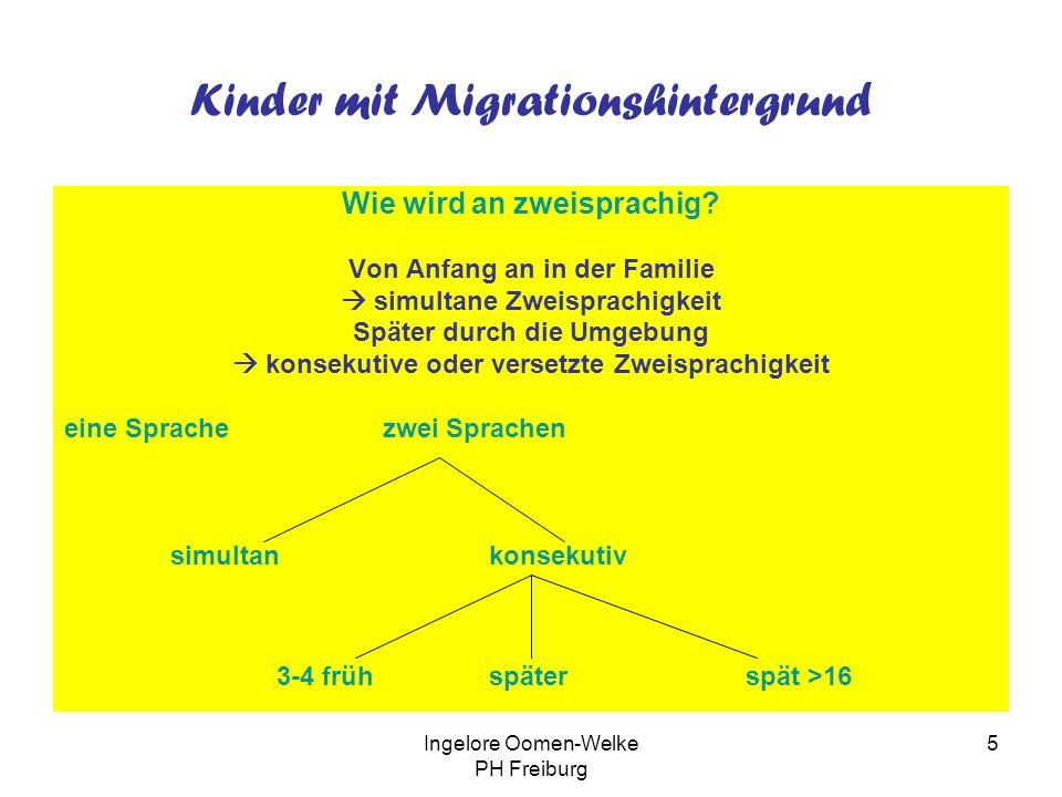 Ingelore Oomen-Welke PH Freiburg 4 Zwei- oder mehrsprachig sind in Deutschland Menschen in zweisprachigen Gebieten an der deutsch- dänischen Grenze un