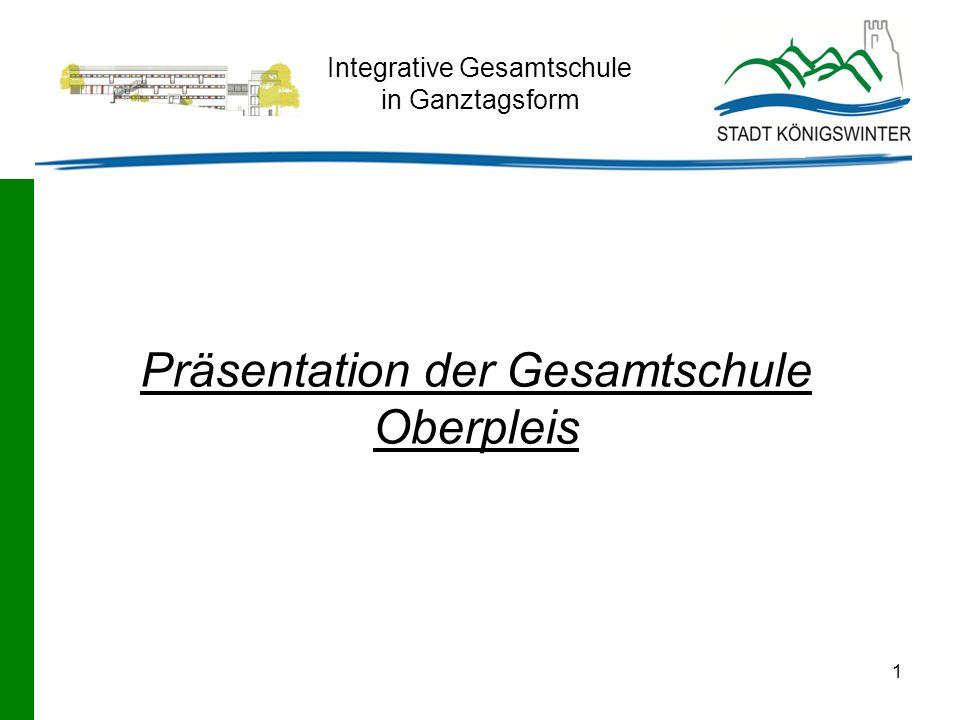 1 Integrative Gesamtschule in Ganztagsform Präsentation der Gesamtschule Oberpleis