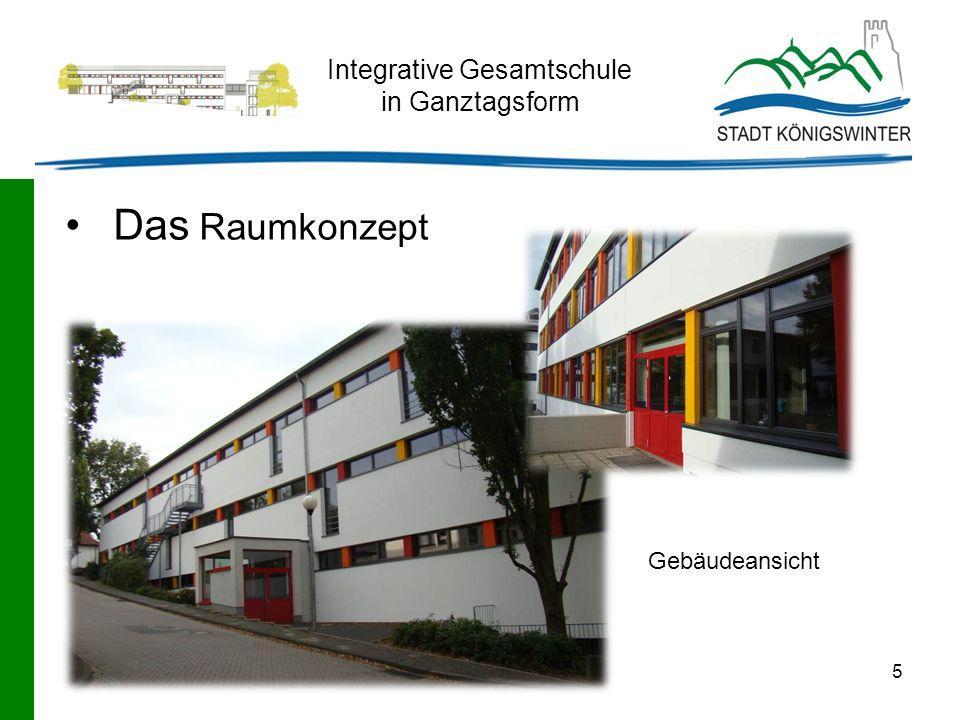 5 Integrative Gesamtschule in Ganztagsform Gebäudeansicht Das Raumkonzept