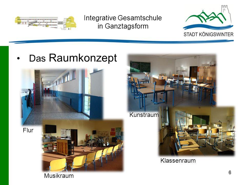 6 Integrative Gesamtschule in Ganztagsform Flur Musikraum Klassenraum Kunstraum Das Raumkonzept