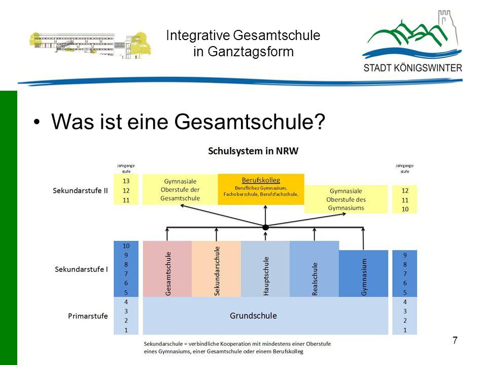 7 Integrative Gesamtschule in Ganztagsform Was ist eine Gesamtschule?