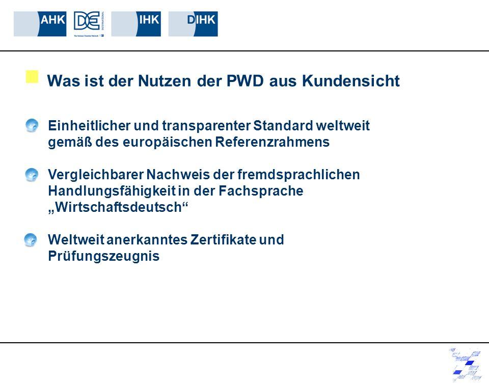 Einheitlicher und transparenter Standard weltweit gemäß des europäischen Referenzrahmens Vergleichbarer Nachweis der fremdsprachlichen Handlungsfähigk