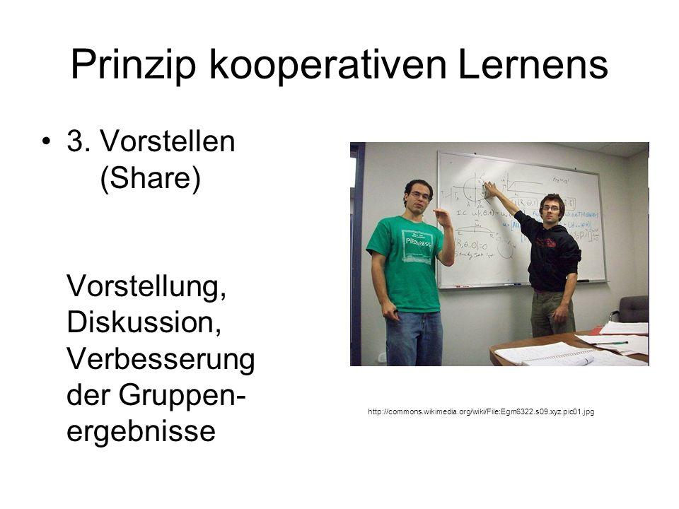 Prinzip kooperativen Lernens 3.