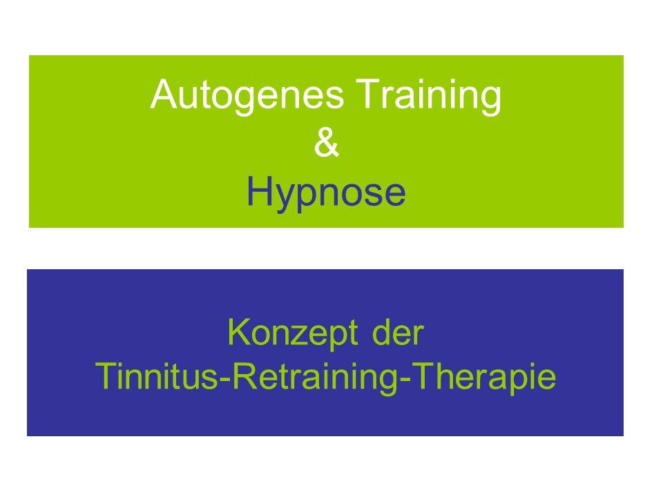 Autogenes Training & Hypnose Konzept der Tinnitus-Retraining-Therapie
